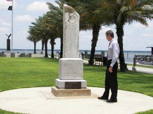 Partner Ken Rhoden visiting the Veterans Memorial, Seminole County, Florida