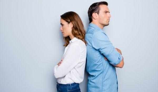 Divorced couple